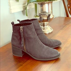 BP Black Leather Booties